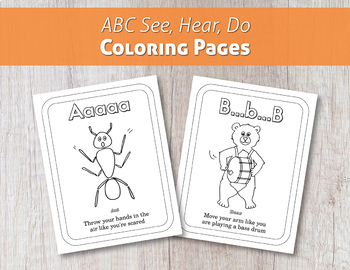 ABC See, Hear, Do Coloring Pages