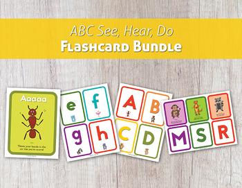 ABC See, Hear, Do Flashcard Bundle