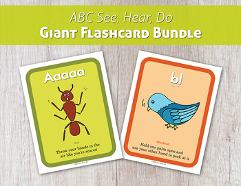 ABC See, Hear, Do Giant Flashcard Bundle