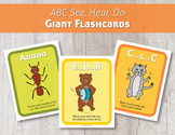 ABC See, Hear, Do Giant Flashcards