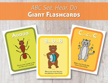 ABC See, Hear, Do Giant Flashcards