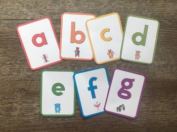 ABC See, Hear, Do Lowercase Reading Flashcards