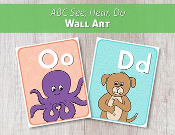 ABC See, Hear, Do Wall Art