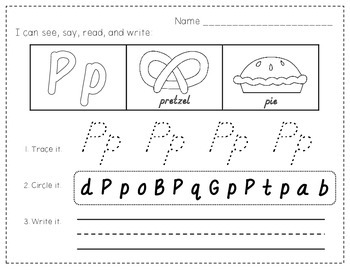 ABC ~ See, Say, Read, & Write {D'NEALIAN FONT Letter Practice Sheets}