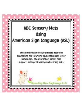 American Sign Language - ABC Sendory Mats using ASL Finger Spelling