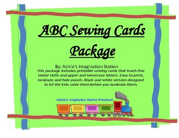 ABC Sewing Cards Package