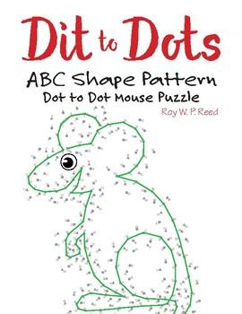 ABC Shape Linear Pattern Dot to Dot Mouse Math Activity