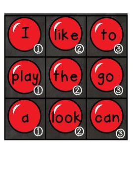 ABC/Sight Word Gumball Games