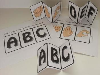 ABC Sign Language-Accordion Booklet (Interactive, Hands-on)