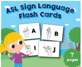 ABC Sign Language Flash Cards, Letter and A4 Size