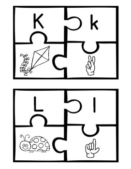 ABC Sign Language Puzzles *Color & Black/White