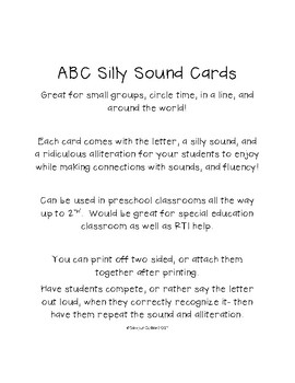 ABC Silly Sound Cards