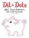 ABC Size Linear Pattern Dot to Dot Pig Math Activity