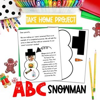 ABC Snowman Take Home Project FREEBIE