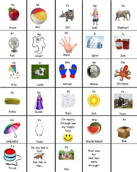 ABC Song Chart by Rachel Orison | Teachers Pay Teachers