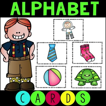 ABC Sorting Cards - Color and Ink Friendly