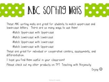 ABC Sorting Mats
