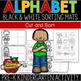 Alphabet Sorting Mats (Black & White)