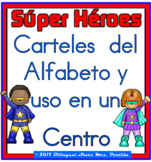 "ABC Spanish Posters  and a Center"" Super Heroes"" version  two sets"