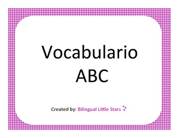 ABC Spanish Vocabulary