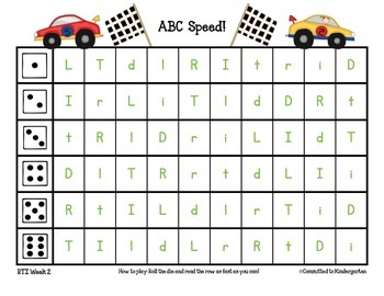 ABC Speed: Letter naming and sounds