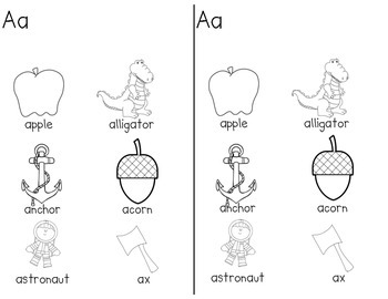 ABC Spelling Dictionary with pictures