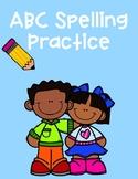 ABC Spelling Practice Worksheet