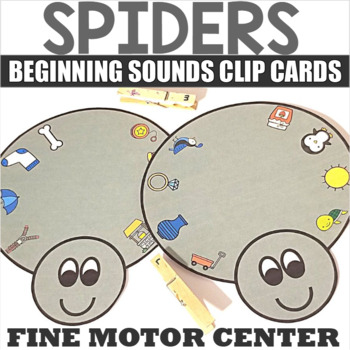 ABC Clip Cards with Spider Theme
