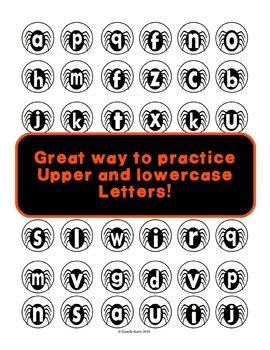 ABC Spider Sort - Letter Recognition Center and File Folder Activity