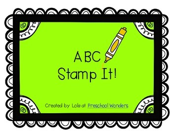 ABC Stamp It! {Upper and Lower Case}