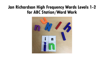 ABC Station/Word Word Jan Richardson High Frequency Words Levels 1-2