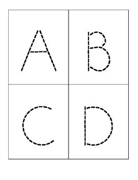 ABC Uppercase Sticker Cards
