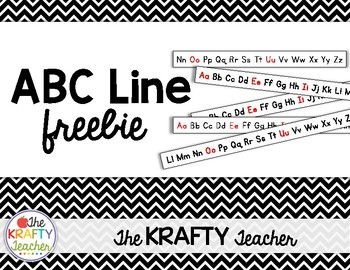 Alphabet Line Strips Kindergarten First ABC