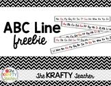 Thin Alphabet Line Strips Kindergarten First ABC