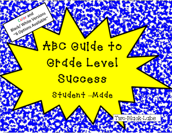 End of the Year - ABC Student Guide To Classroom Success- Student-Made Booklet