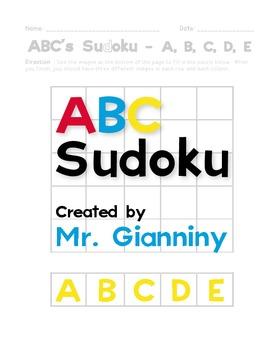 ABC Sudoku - Letter Recognition Practice