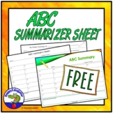 End of Year Activity: FREE ABC Summary Sheet or Summarizer