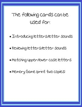 ABC Teaching Cards