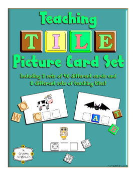 ABC Teaching Tile Picture Cards with Tiles for Phonics Spelling and FUN