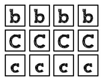ABC Tic-Tac-Toe {Capital and Lowercase}