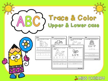 ABC Trace & Color (Upper and Lower Case)