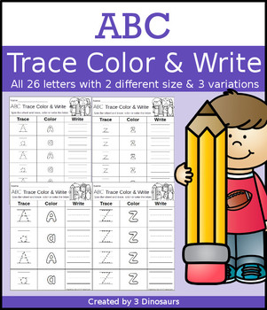 ABC Trace Color and Write