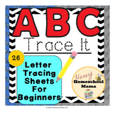 ABC Trace It Mixed Case - Sheets for Students Learning to Form Letters