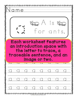 ABC Trace It Upper and Lowercase Set - Sheets for Tracing Letters