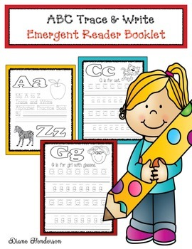 ABC Trace & Write Emergent Reader Booklet