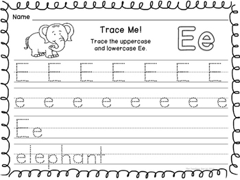 ABC Trace & Write the Alphabet Zoo Animals Alphabet Style