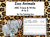 ABC Trace & Write the Alphabet Zoo Animals Alphabet Style