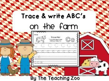 ABC Trace & Write the Alphabet Farm Animals Style