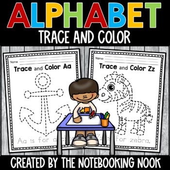 Alphabet Trace and Color