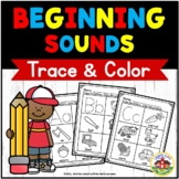 Beginning Sounds Trace and Color Printables